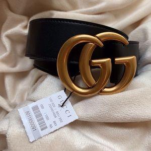 •/Ńew Gucci Belt GG Goldes